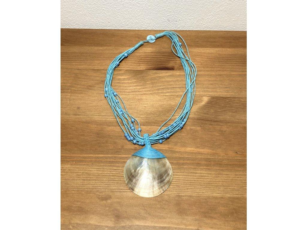 náhrdelník : mušle : etno