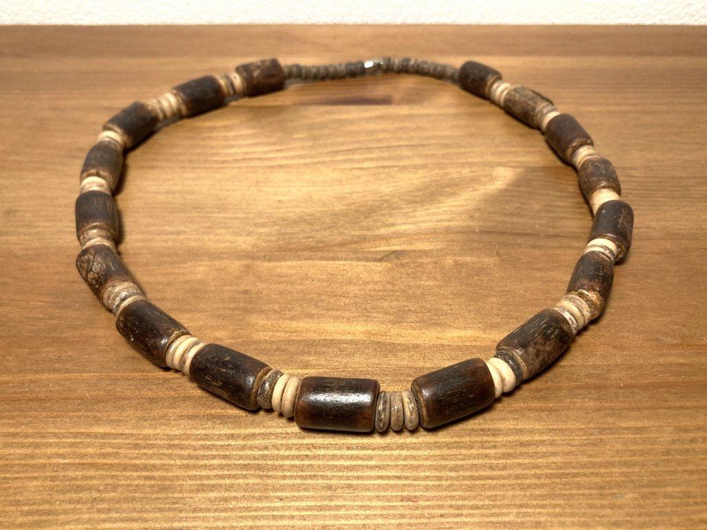 etno korále : hnědé korále etno : dřevěné korále