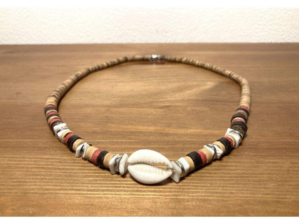 etno korále s mušlí : korále s mušlí : přírodní korále