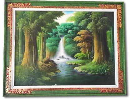 Obraz Vodopád uprostřed džungle