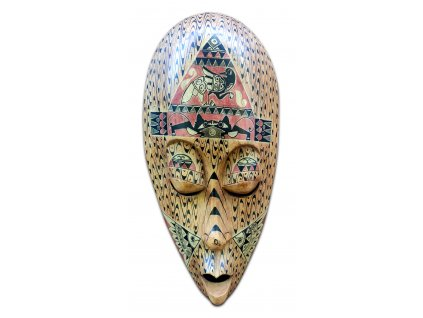 Dřevěná australská maska poukazující na zrod ptactva