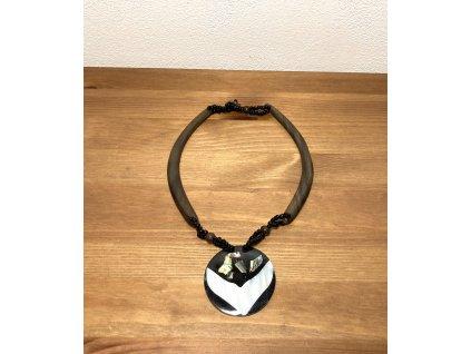 perleťový náhrdelník : náhrdelník etno : náhrdelník perleť