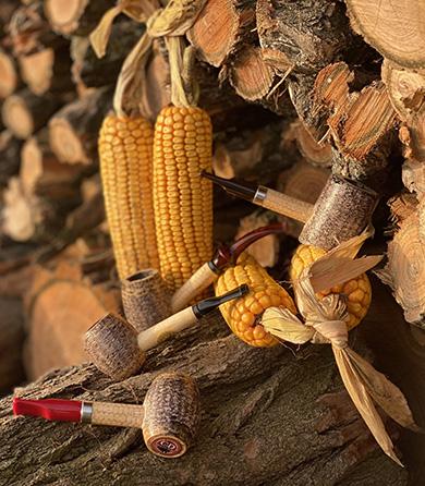 Dýmky z kukuřičného klasi Missouri Meerschaum