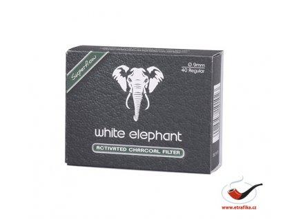 Uhlíkové filtry do dýmky White Elephant WE40AC9C 9mm/40