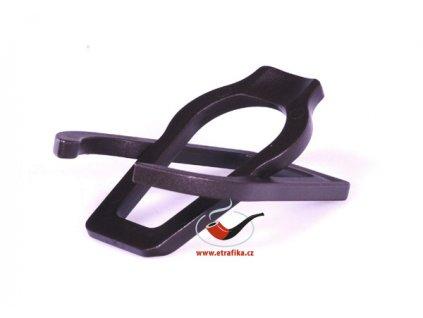 Skládací stojánek na dýmku plast černý