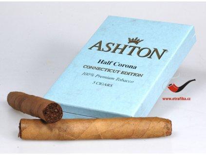 Doutníky Ashton Small BLUE Half Corona/5