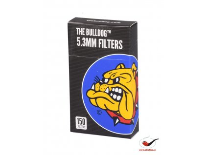 Cigaretové bavlněné filtry The Bulldog 5.3mm POP A-TIP/150