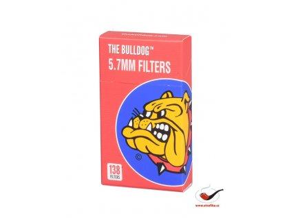Cigaretové bavlněné filtry The Bulldog 5.7mm POP A-TIP/138