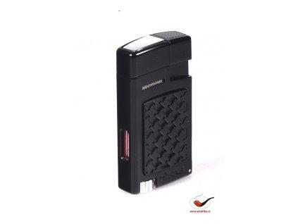 Doutníkový zapalovač Forte Soft Flame Lighter Black 524BKH