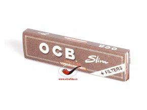 Cigaretové papírky OCB Slim Virgin s filtry