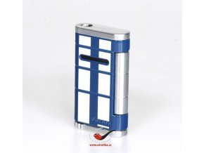 Cigaretový zapalovač Xikar 532BLWH Allume Single Lighter Blue White Stripe