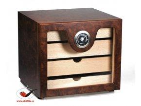 Doutníkový Humidor Cabinet hnědý malý 60D