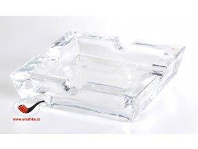 Doutníkový popelník skleněný transparentní 4D