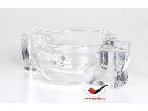 Doutníkový popelník skleněný transparentní na 2 doutníky