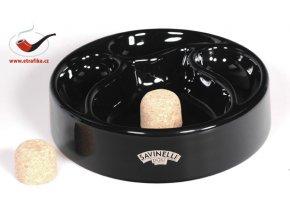 Dýmkový popelník Savinelli černý