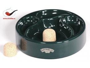 Dýmkový popelník Savinelli zelený