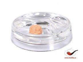 Dýmkový popelník skleněný transparentní