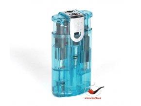 Doutníkový zapalovač Eurojet Duoflame modrý