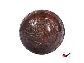 Drtič tabáku Buldog dřevěný koule