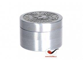 Drtič tabáku Buldog kovový 4-dílný
