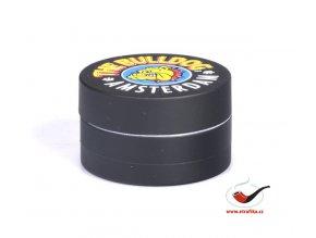 Drtič tabáku Buldog kovový černý 3-dílný