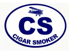 Nálepka na auto Cigar Smoker