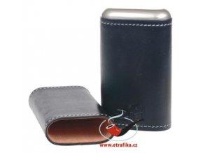 Kožené pouzdro na 3 doutníky Xikar Black