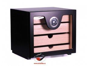 Doutníkový Humidor Cabinet černý