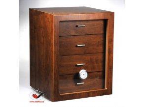 Doutníkový Humidor Cabinet hnědý 60D