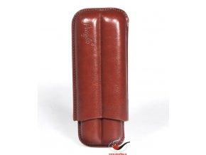 Pouzdro na 2 doutníky Angelo hnědé 160 mm