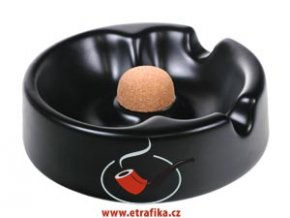 Dýmkový a doutníkový popelník Brebbia černý
