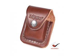 Kožená kapsička na zapalovač Zippo hnědá