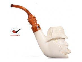 Dýmka SMS Meerschaum Head XL Sherlock Holmes 03
