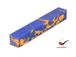 Akrylová tyč malá TW Blue Orange Swirl 128