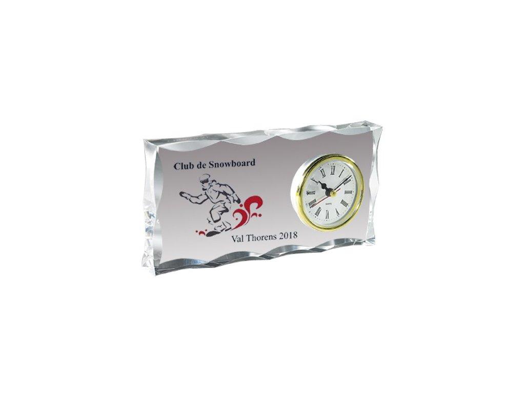 sklo - 17711 s hodinami + krabička