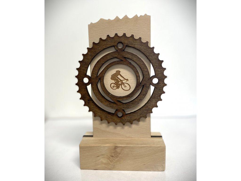 trofej DD020 cyklo, cyklistika  h 21cm