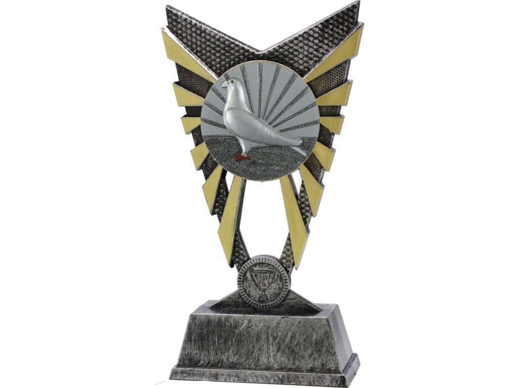 trofej X840024 holubárstvo  h 23cm