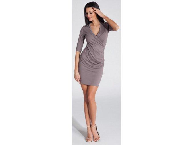 Dámské šaty F285 Cappuccino