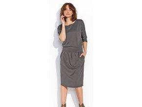 Dámské šaty Numinou NU07 Šedý melír