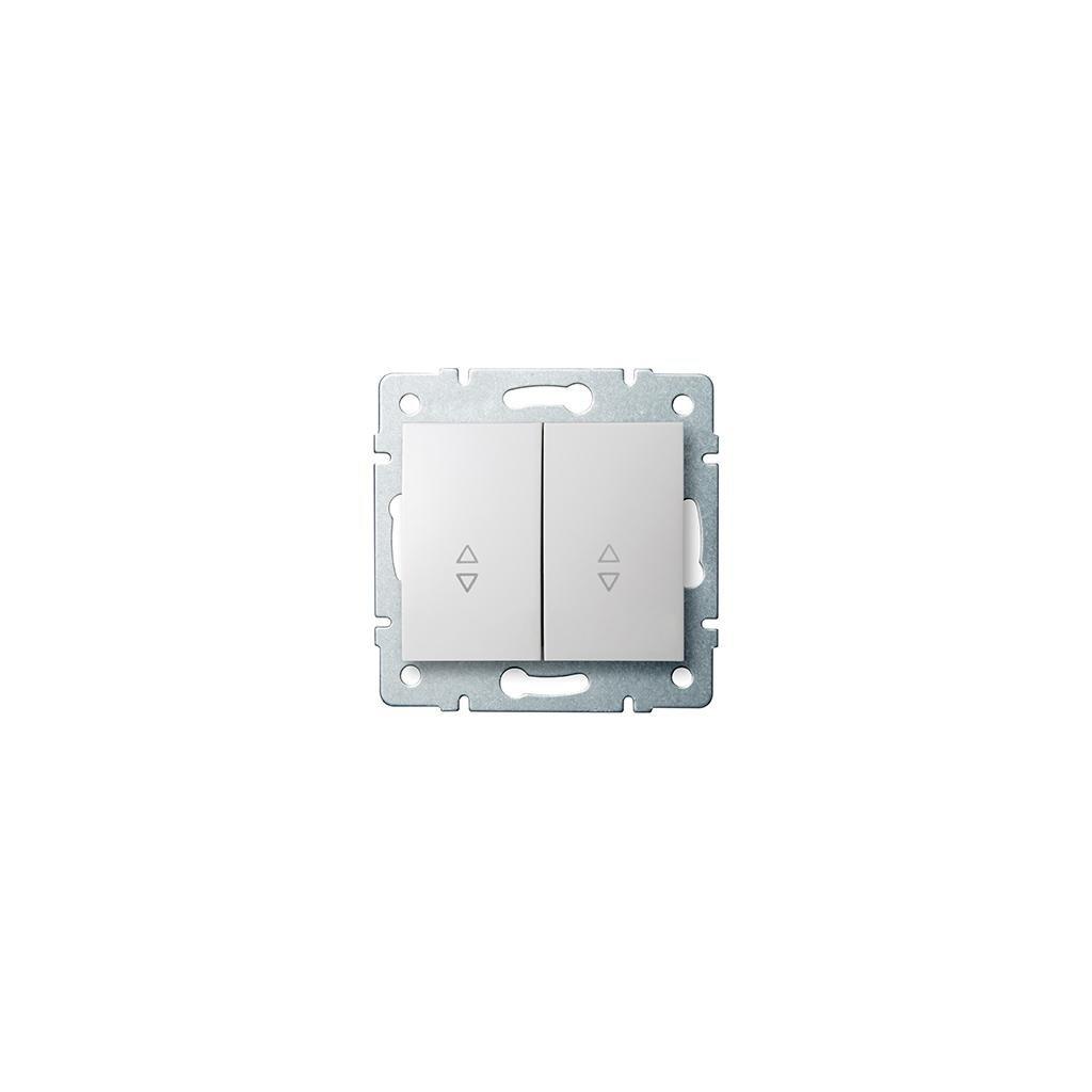 Kanlux LOGI Schodiskový vypínač dvojitý AX - V~biely eulux.sk