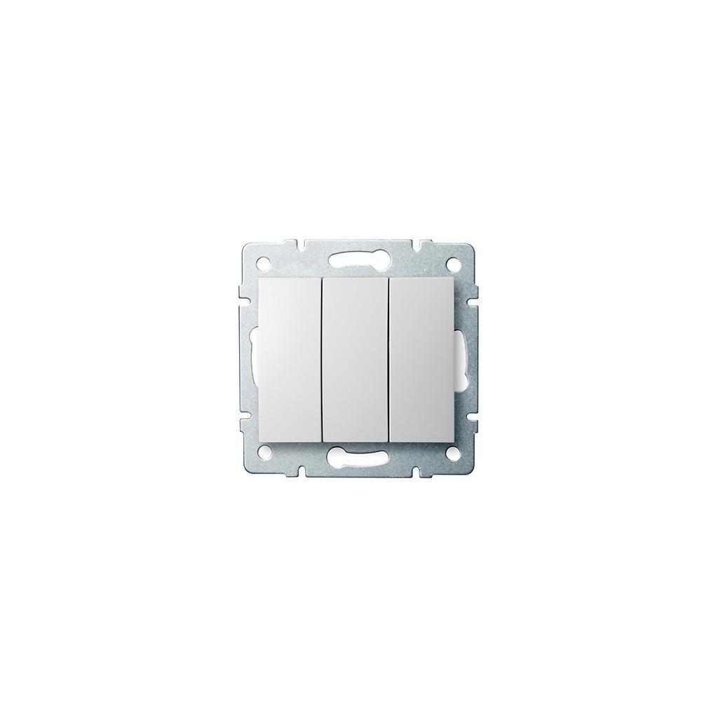 Kanlux LOGI Trojitý vypínač AX - V~biely eulux.sk