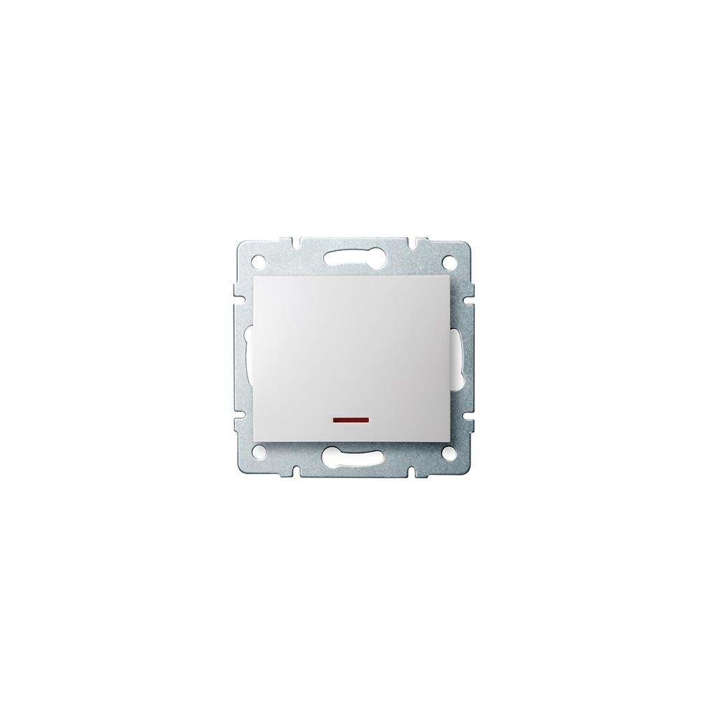 Kanlux LOGI Jednopólový vypínač s LED AX - V~biely eulux.sk