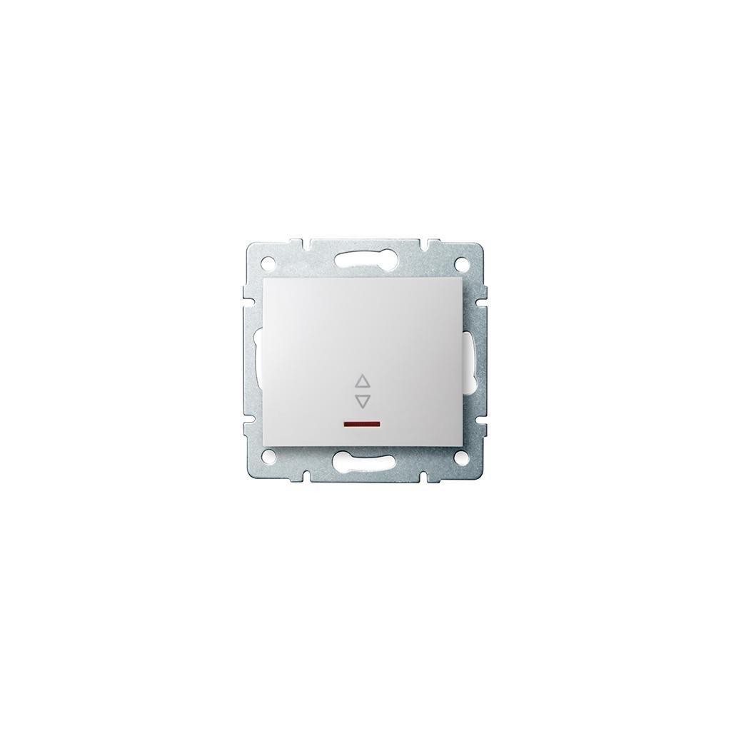 Kanlux LOGI Schodiskový vypínač s LED AX - V~biely eulux.sk