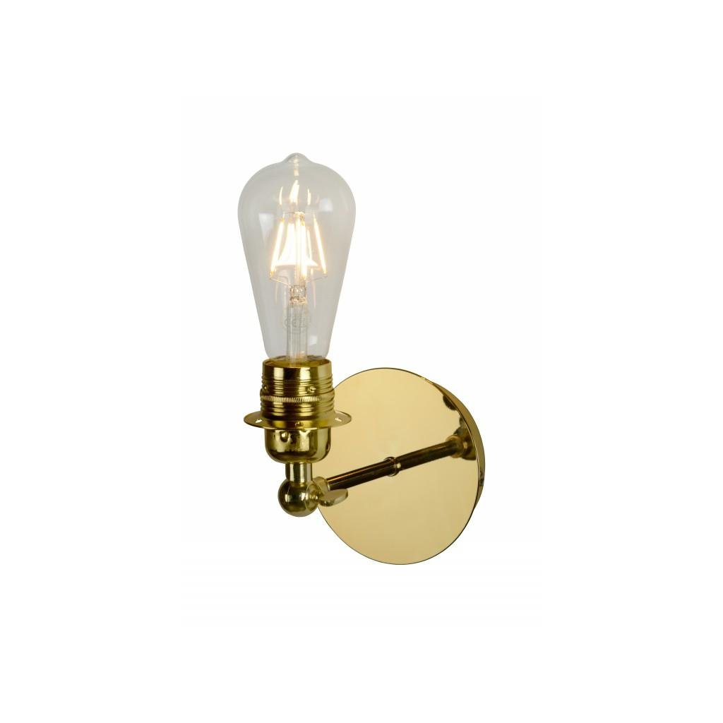 LUCIDE // RETRO brass nástenné svietidlo eulux.sk