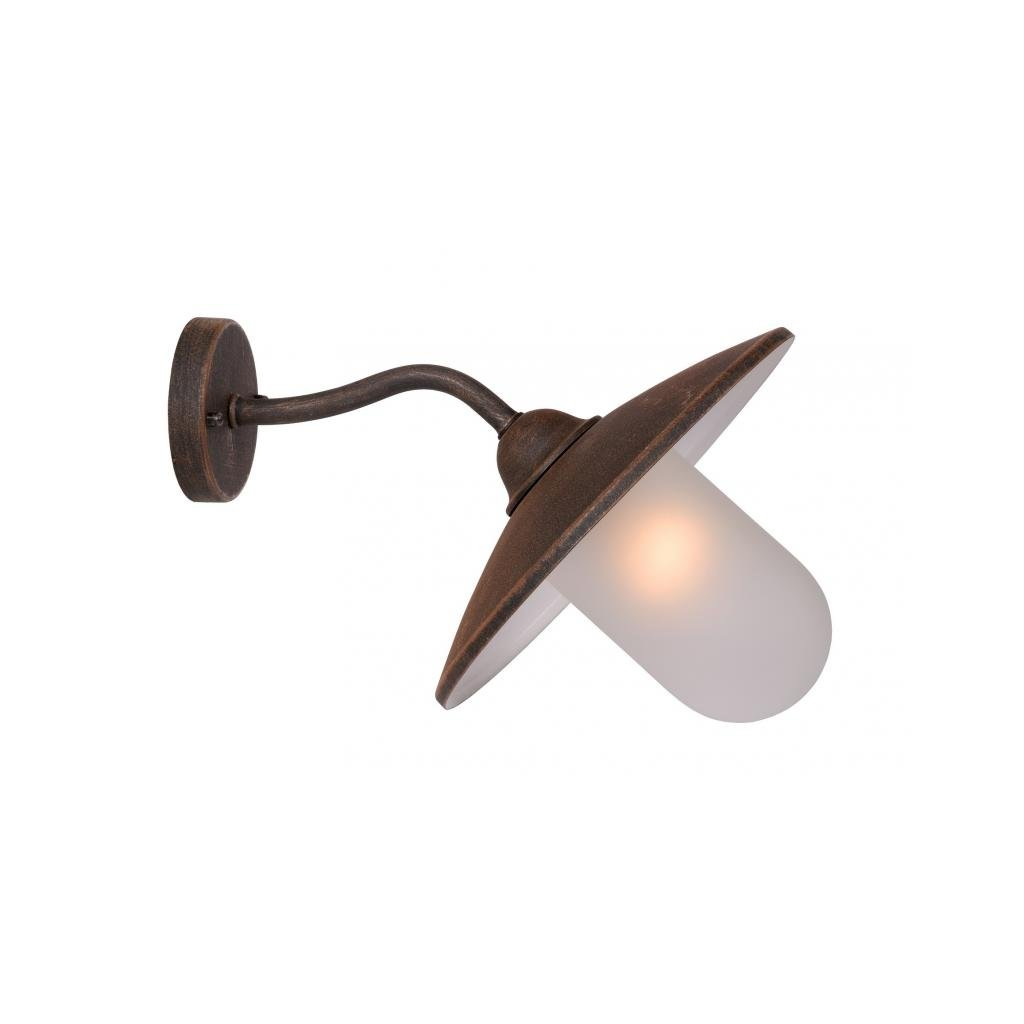 Lucide // ARUBA Wall Light xE Frost Glass/Rust eulux.sk