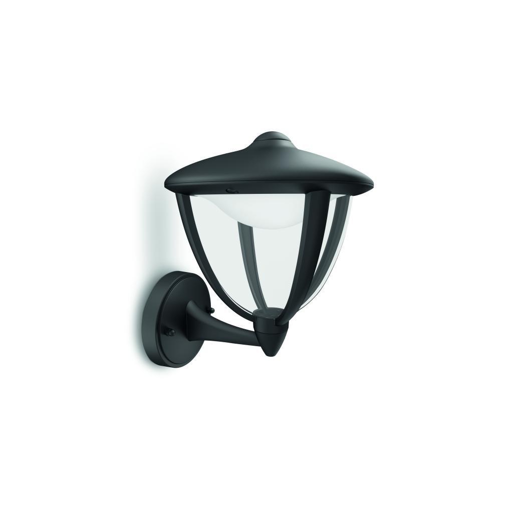 Massive-Philips Robin wall lantern black x.W V- // nástenné svietidlo eulux.sk