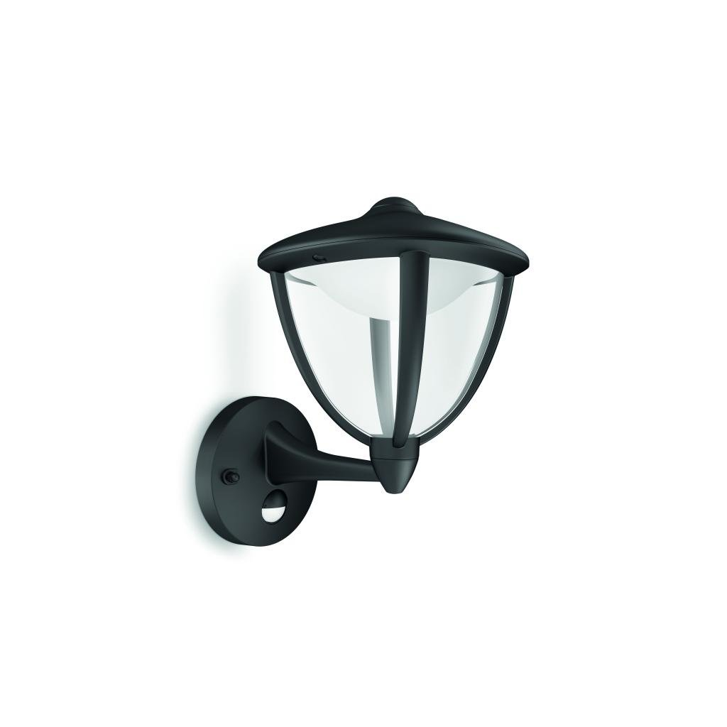Massive-Philips Robin wall lantern black x.W V- // nástenné svietidlo so senzorom eulux.sk