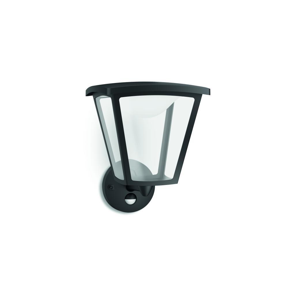 Massive-Philips Cottage wall lantern black x.W V- // nástenné svietidlo so senzorom eulux.sk