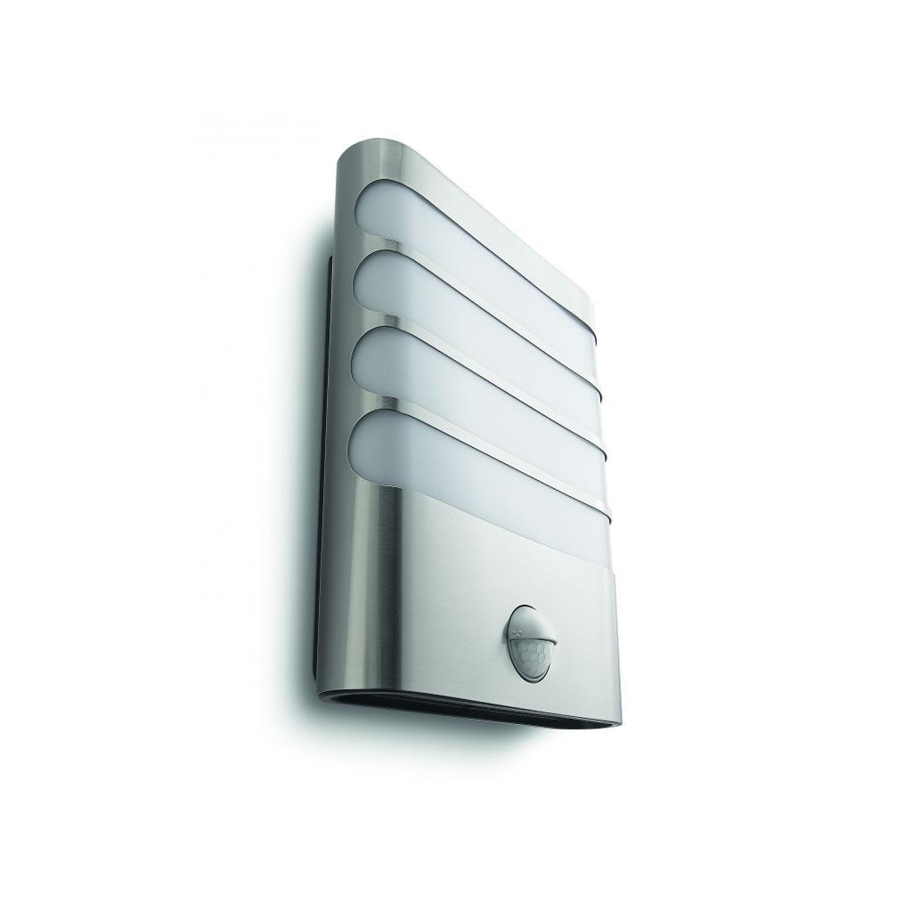 Massive-Philips Raccoon wall lantern inox xW SELV- // nástenné svietidlo so senzorom eulux.sk
