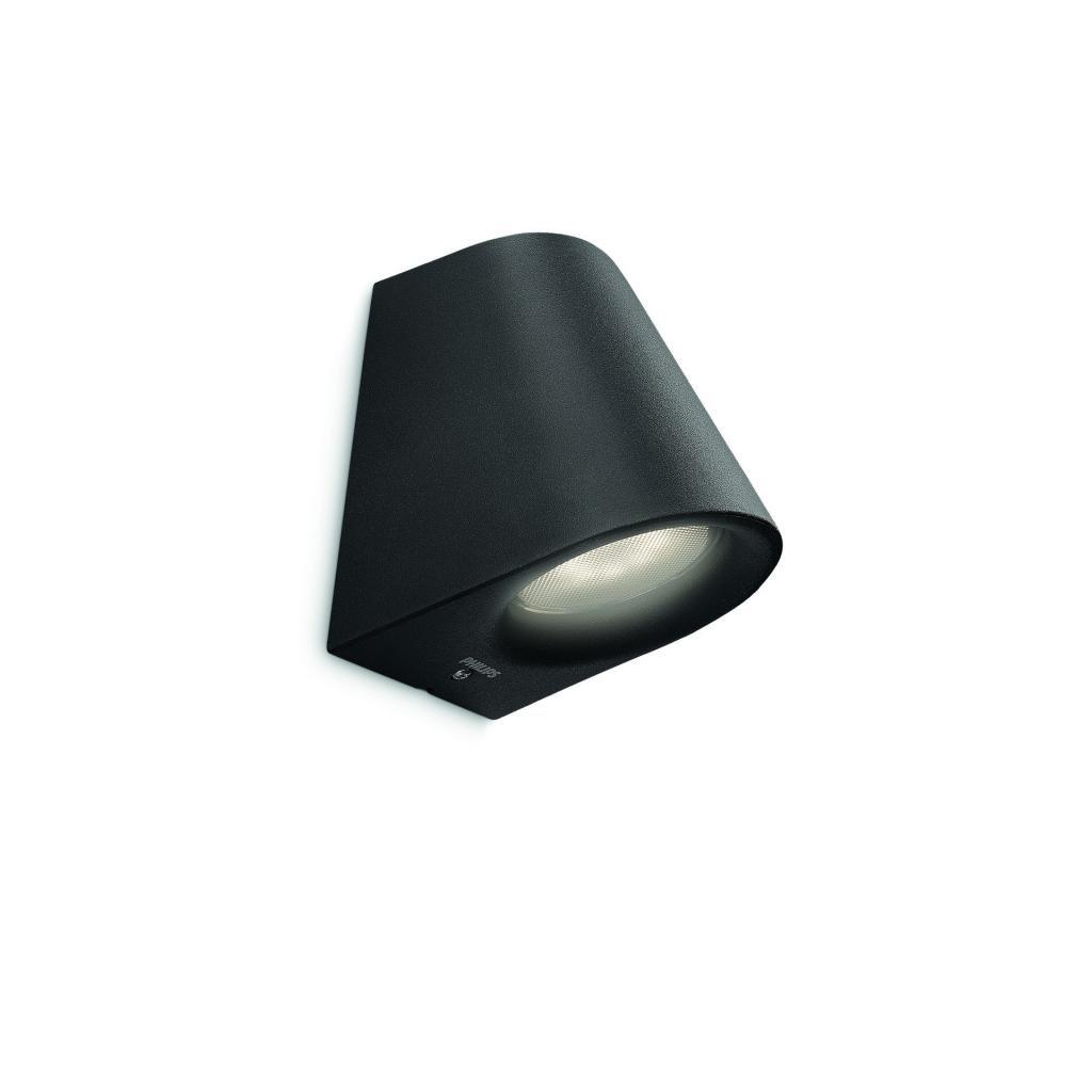 Massive-Philips // Virga wall lantern LED black xW nástenné svietidlo eulux.sk